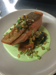 Chef Matt Elias' Steelhead and local delicata squash masterpiece