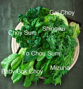 Asian Green Varieties